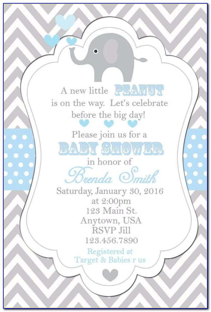 Free Elephant Baby Shower Invitation Templates For Word