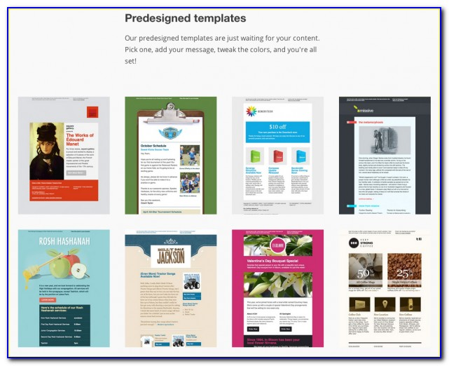 Free Email Templates Mailchimp