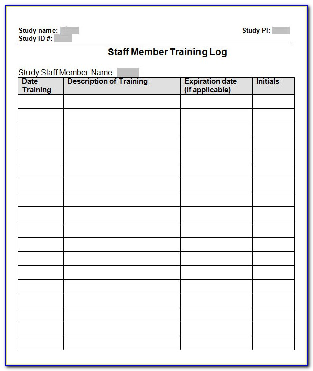 Free Employee Training Record Template Excel