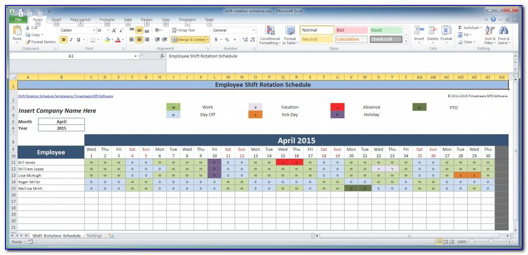 Free Employee Training Schedule Template Excel