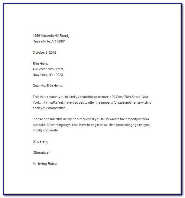 Free Eviction Notice Template Pdf
