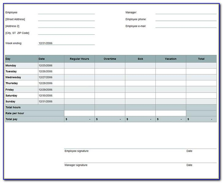 Free Excel Timesheet Template Uk