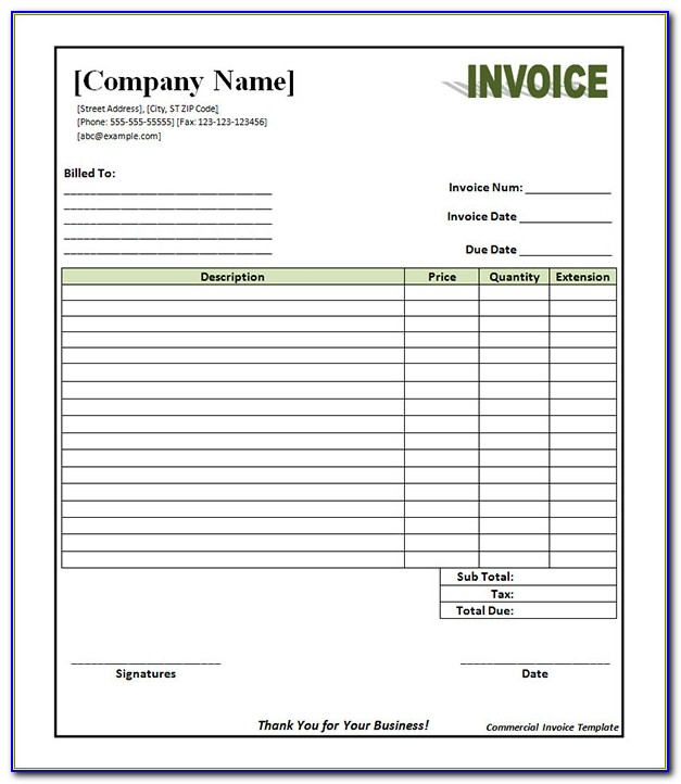11 Commercial Invoice Templates Download Free Documents In Word Commercial Invoice Template Free