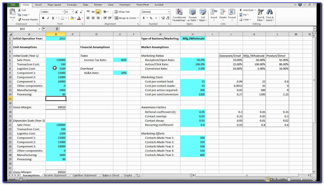 Free Financial Modelling Excel Templates