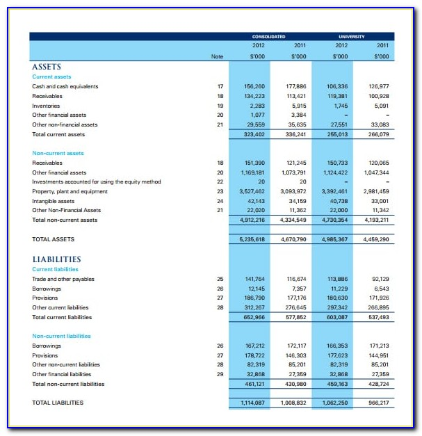 Free Financial Statement Template Download