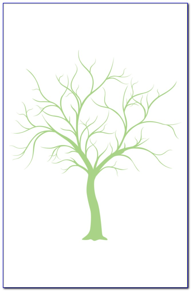 Free Fingerprint Tree Wedding Guest Book Template