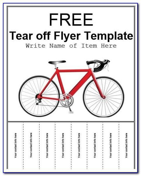 Free Flyer Maker With Tear Off Tabs Template