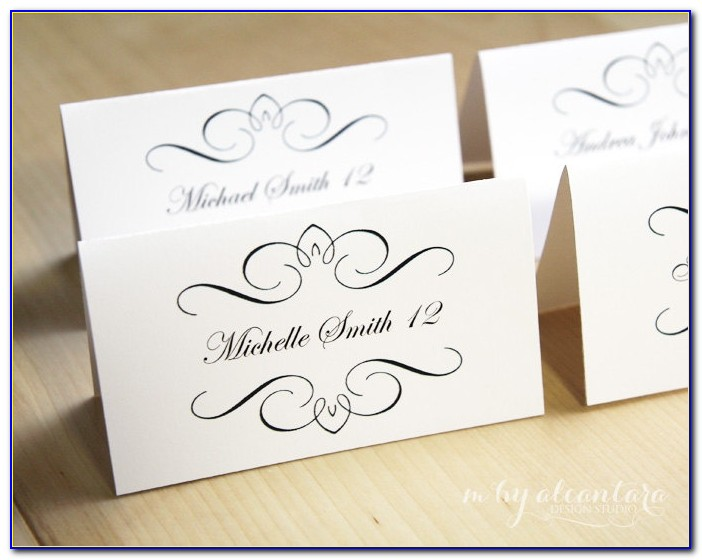 Free Foldable Place Card Template Word