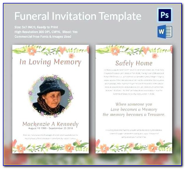 Free Funeral Announcement Template Microsoft