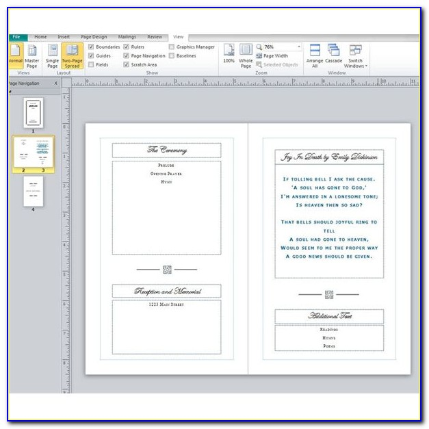 Free Funeral Program Layout Templates