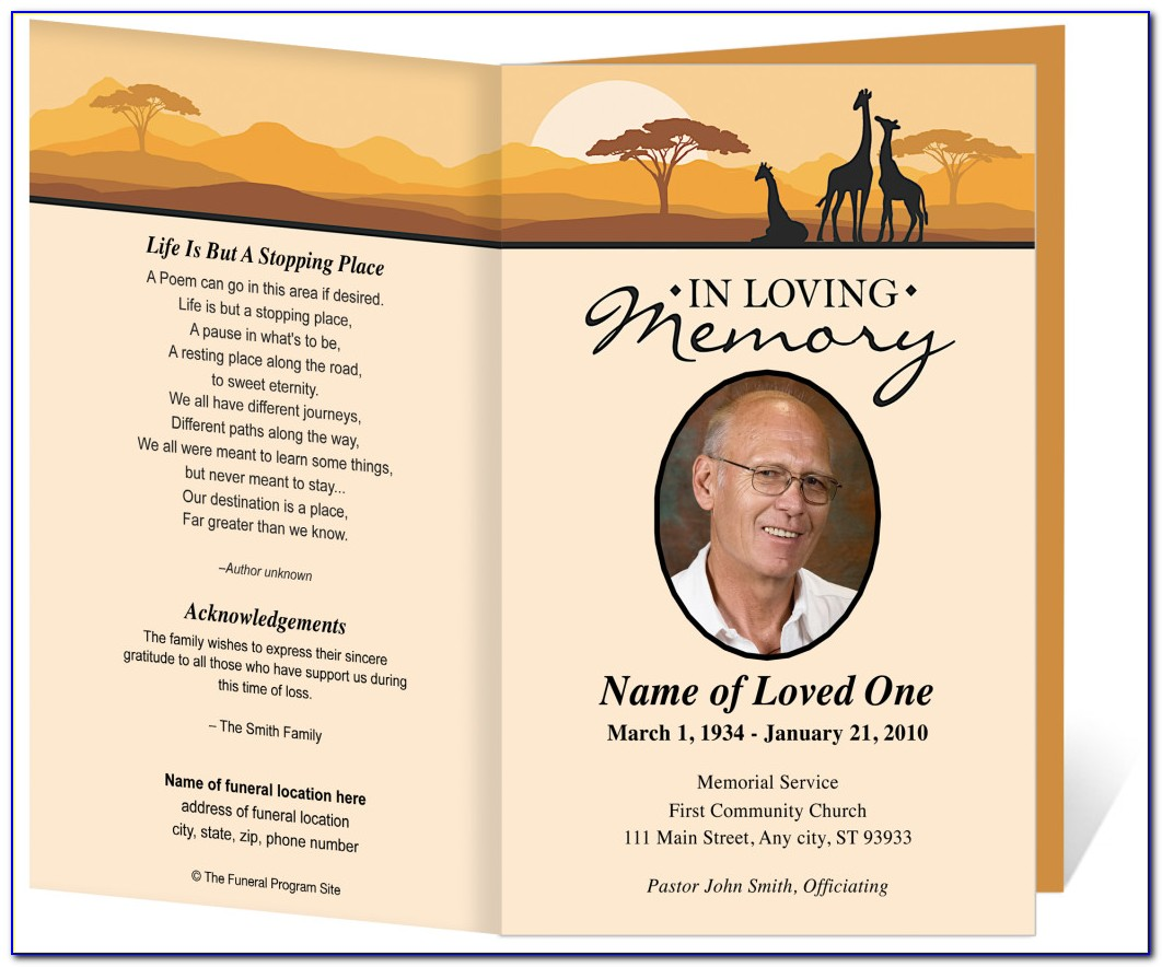 Free Funeral Program Templates Online