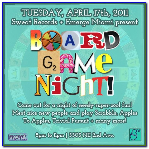 Free Game Night Party Invitation Template