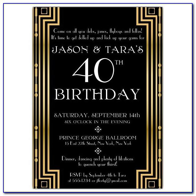 Free Gatsby Party Invitation Template