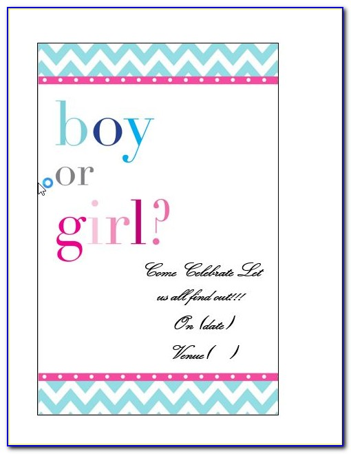 Free Gender Reveal Invitation Templates For Word
