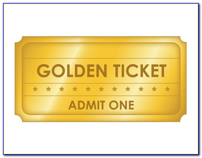 Free Golden Ticket Template Download