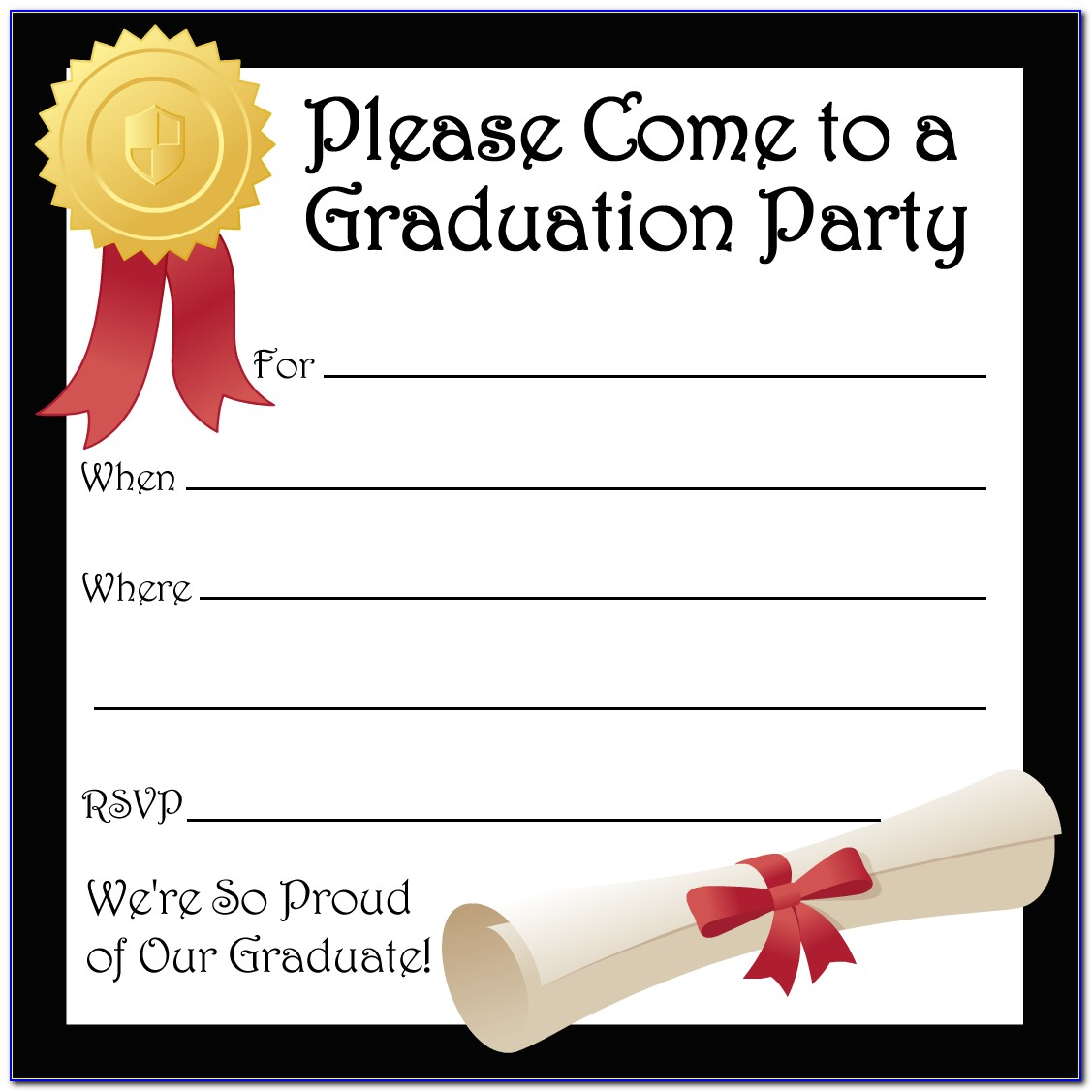 Free Graduation Invitation Card Templates