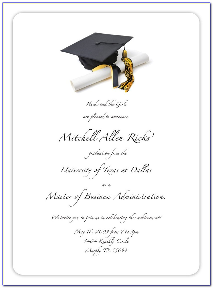Free Graduation Invitation Templates Download