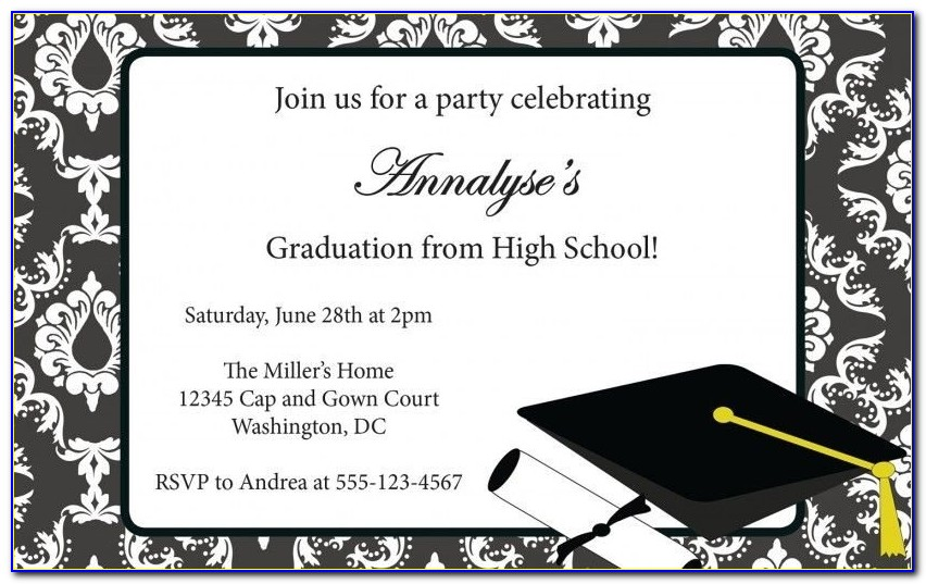 Free Graduation Party Invitation Templates | Invitation Sample Regarding Free Graduation Announcement Templates