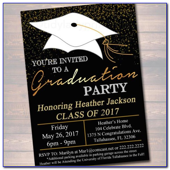 Free High School Graduation Party Invitations Templates