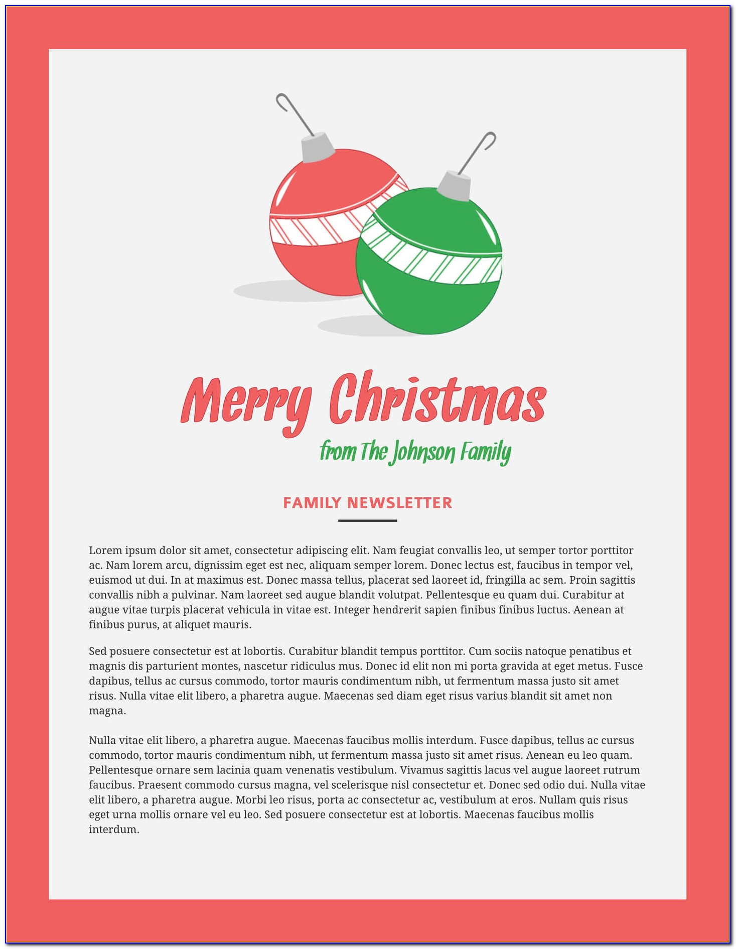 Free Holiday Newsletter Templates For Microsoft Word