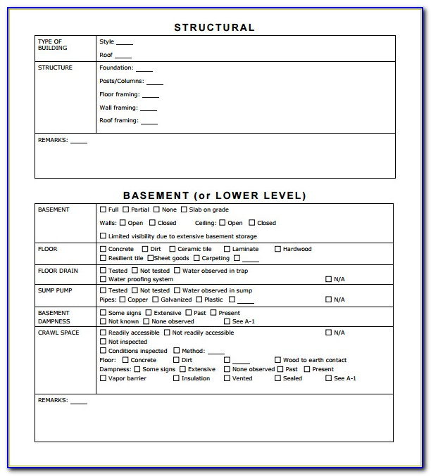 Free Home Inspection Report Template Pdf