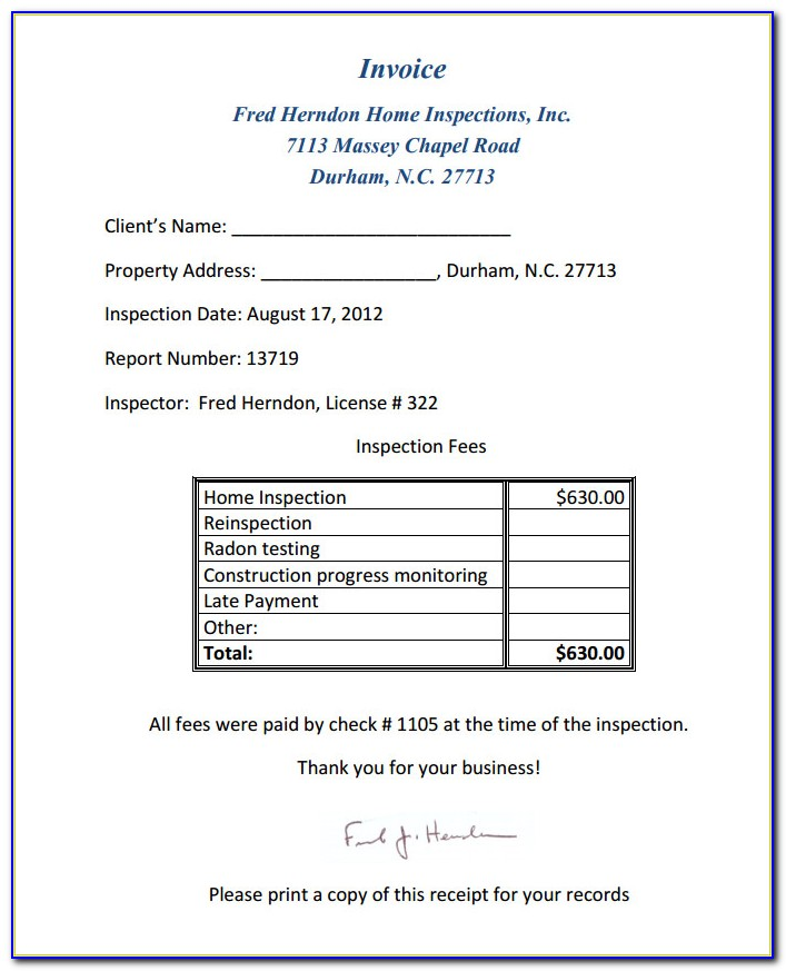 Free Home Inspection Report Template