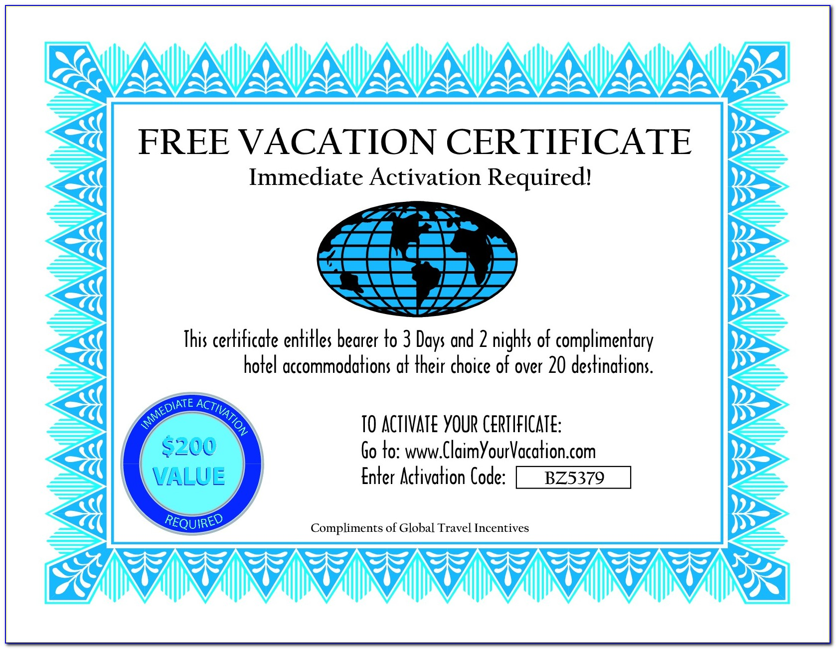 Free Hotel Gift Certificate Template Word