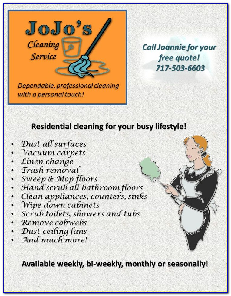 Free House Cleaning Ad Templates