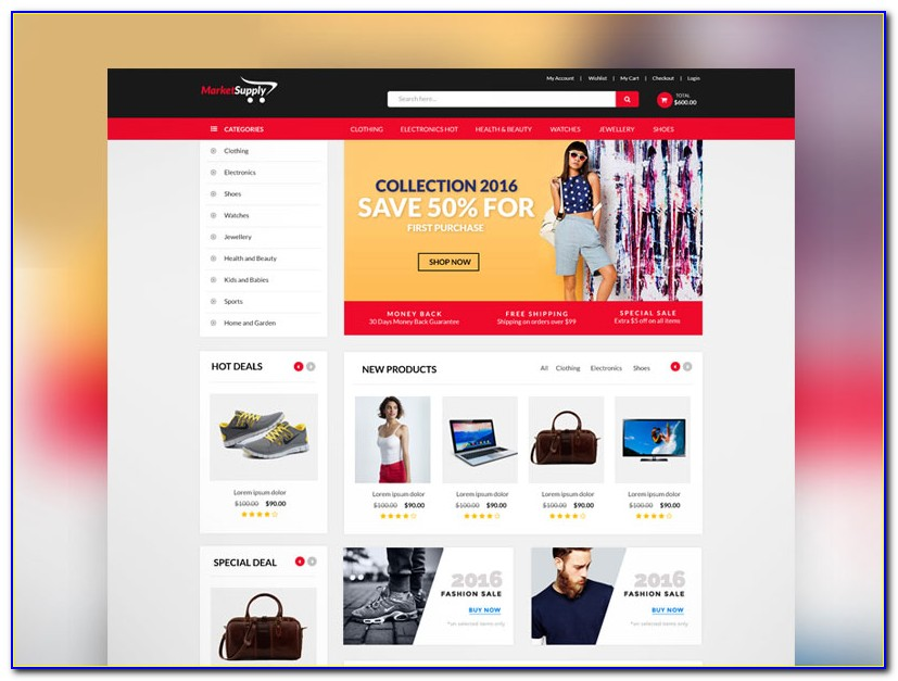Free Html5 Ecommerce Web Template