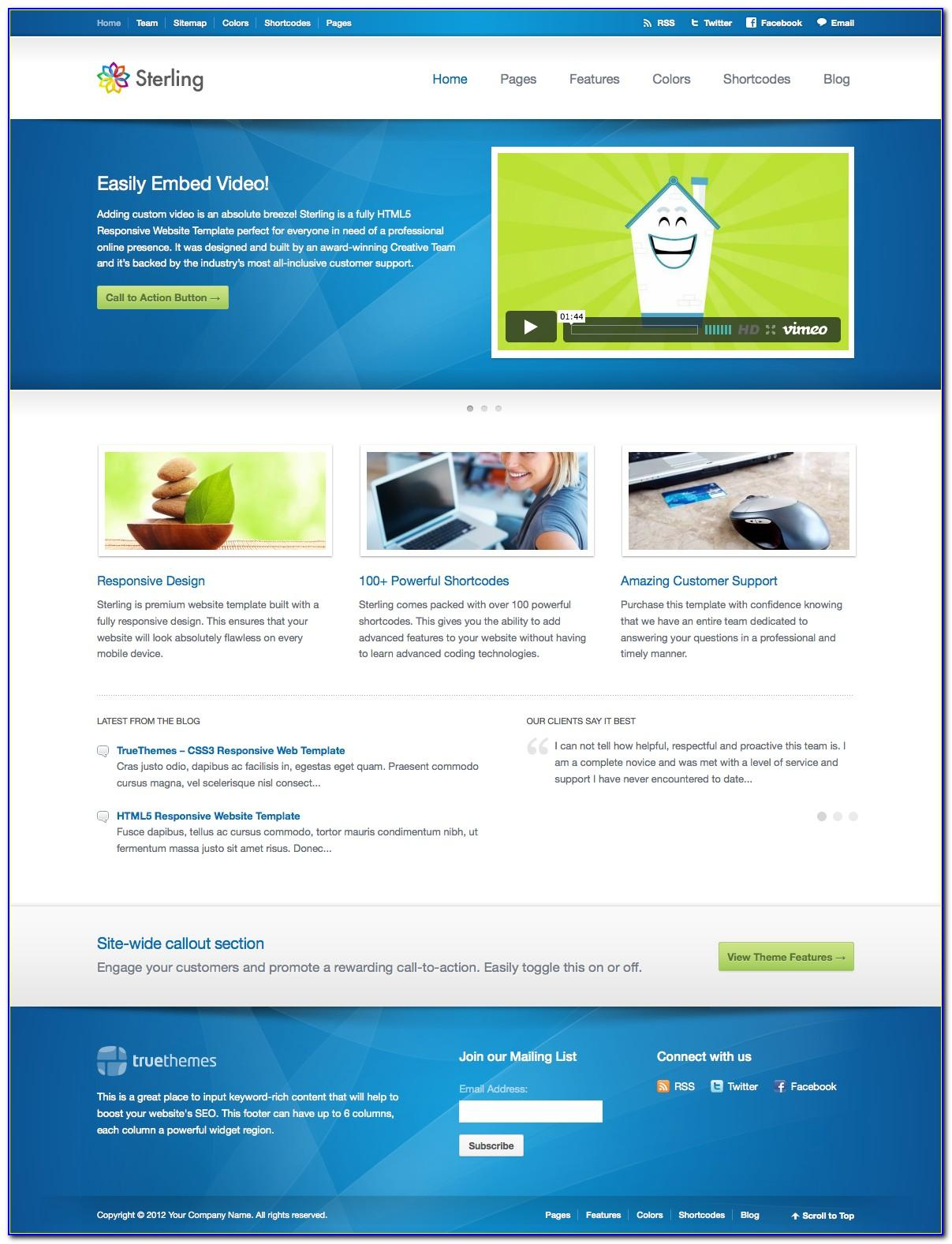 Free Html5 Responsive Web Templates