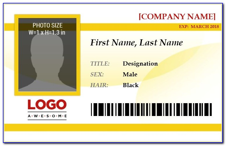 Free Id Badges Templates Download