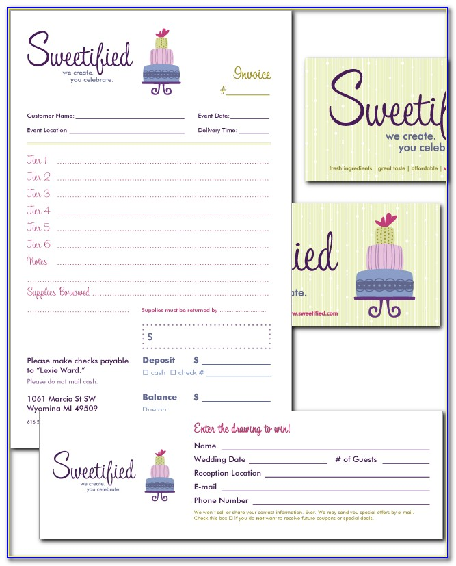 Free Invoice Template For Cake Business
