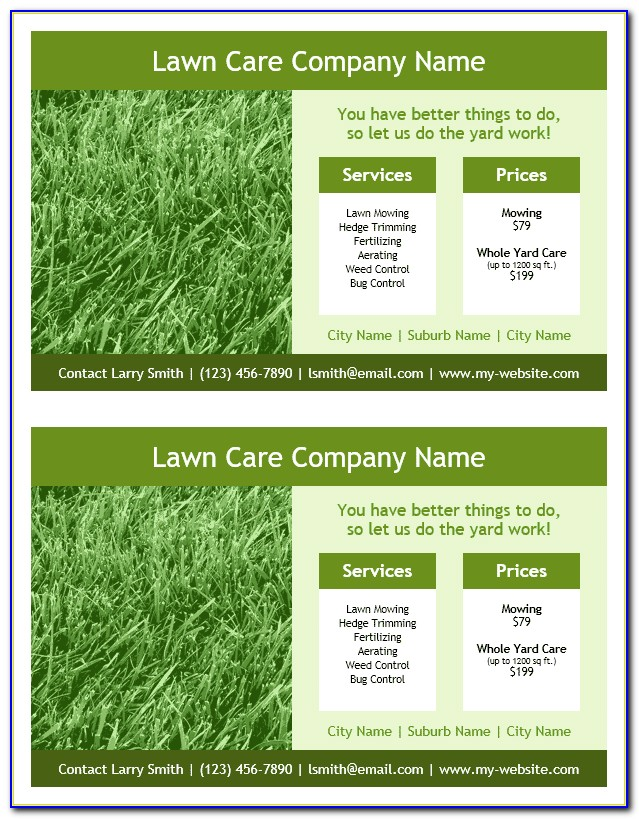 Free Lawn Care Flyer Templates Word