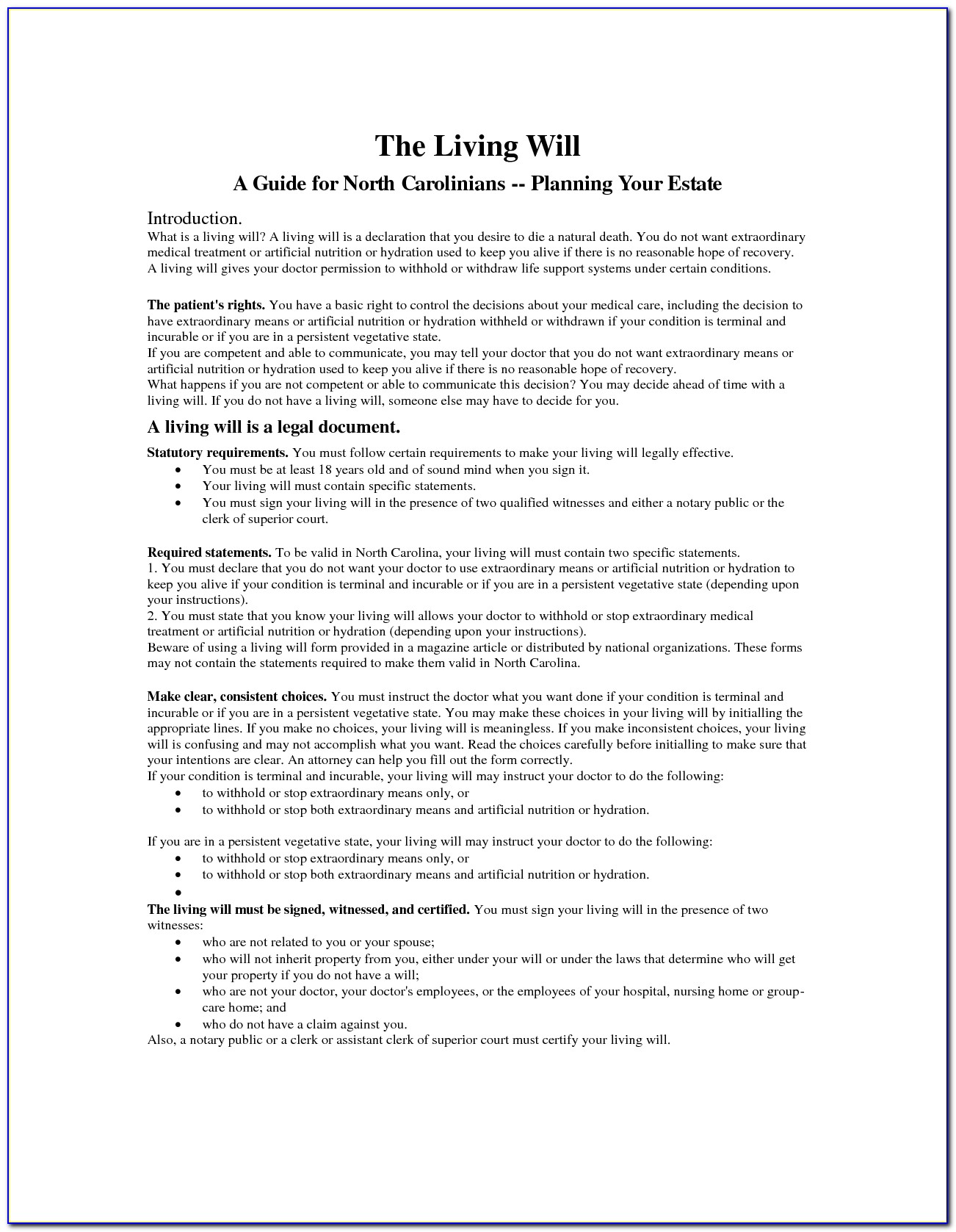 Doc400518 Sample Living Will Template Living Will Forms Free Living Will Template