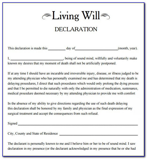 Free Living Wills Forms
