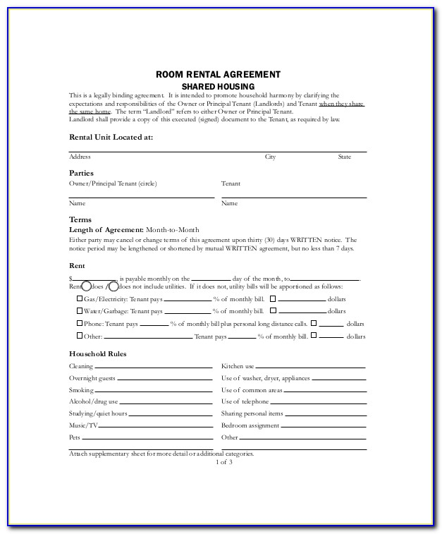 Free Lodger Contract Template Uk