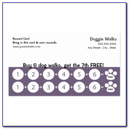 Free Loyalty Stamp Card Template