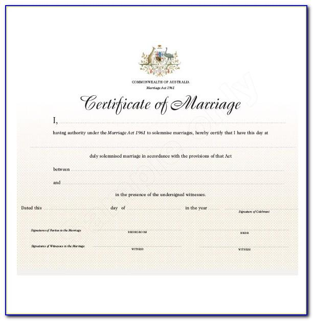 Free Marriage Certificate Template Pdf