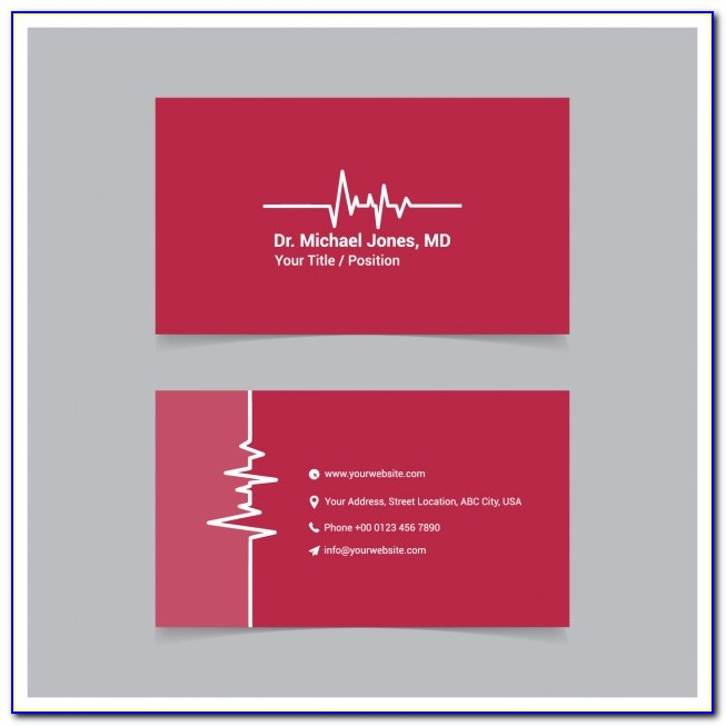 Free Medical Business Card Templates Printable