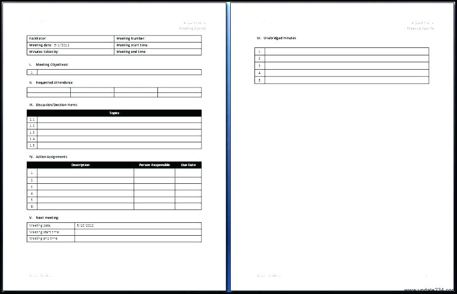 Free Meeting Minutes Template For Mac Pages