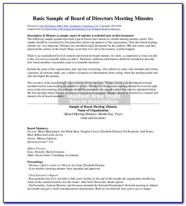 Free Meeting Minutes Template With Action Items