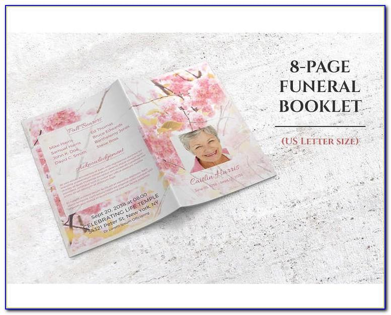 Free Memorial Service Booklet Template