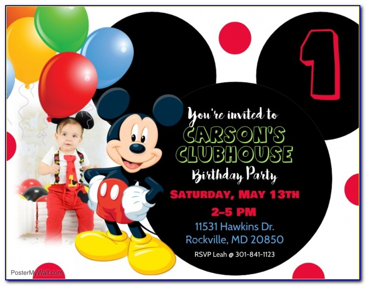 Free Mickey Mouse Party Invitation Template