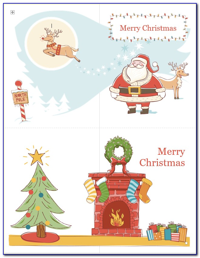 Free Microsoft Word Holiday Card Template