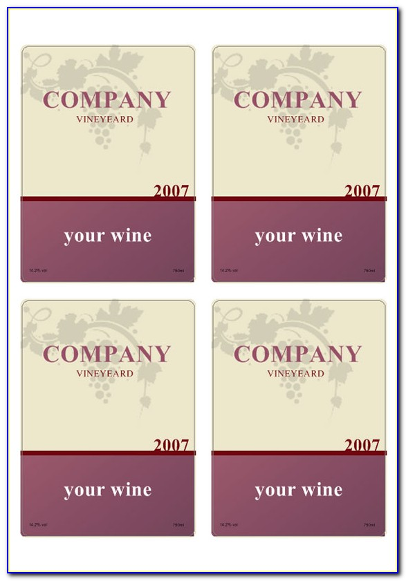 Free Mini Champagne Bottle Label Template