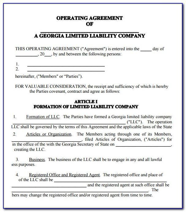 Free Missouri Llc Operating Agreement Template