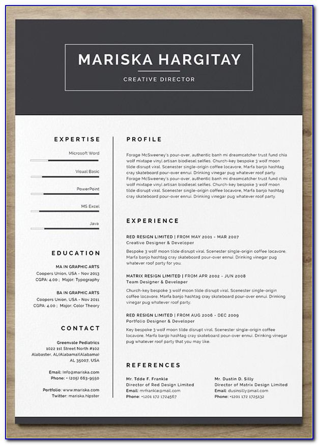 Free Modern Resume Template For Word