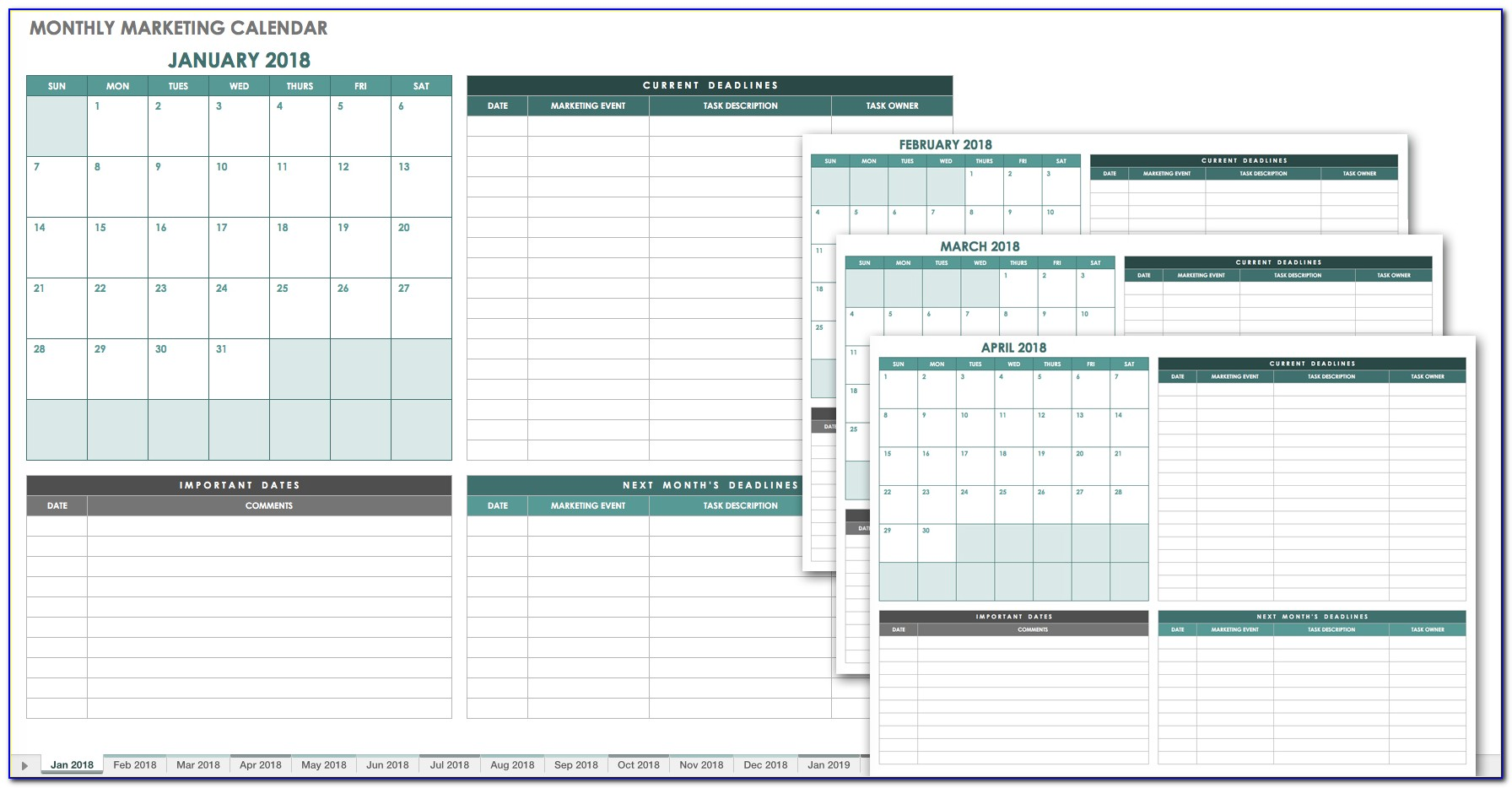 Free Monthly Scheduling Calendar Template