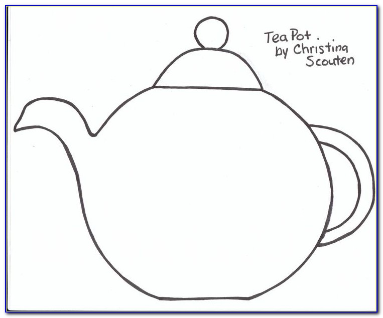 Free Mothers Day Teapot Card Template