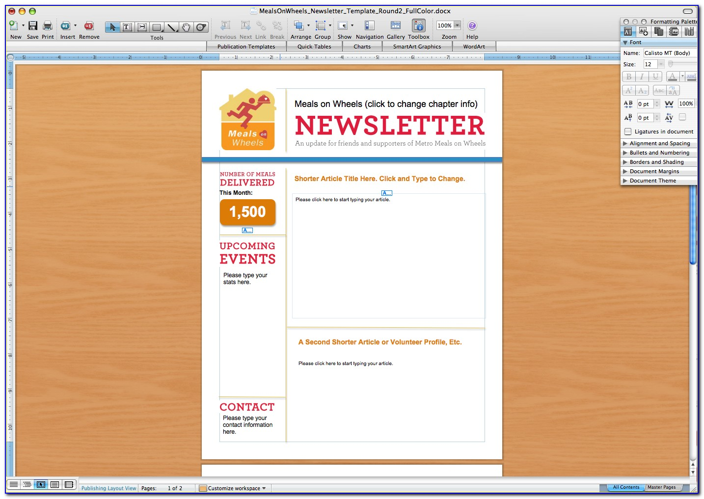 Free Newsletter Templates For Microsoft Word 2010